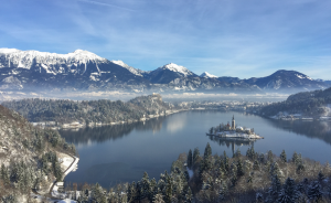 Winter honeymoon in Bled, Slovenia